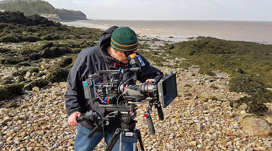 Simon Cox - on location at Cleethorpes