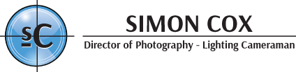 Simon Cox - Director of Photography and Lighting Camerman